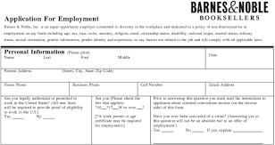 Barnes And Noble Job Application