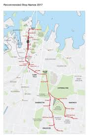 Potential names unveiled for the 19 stops along Sydney s CBD and