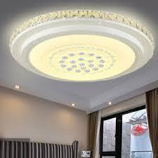details zu 48w 52cm rund led deckenle kristall deckenleuchte wohnzimmer le warmweiß
