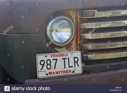 Old Truck Grill And License Plate Stock Photo: 75947607 - Alamy