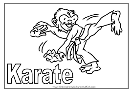Karate Coloring PageJPG