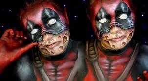 Halloween Half Mask Makeup by Deadpool Scarface Halloween Makeup Tutorial Jordan Hanz Youtube
