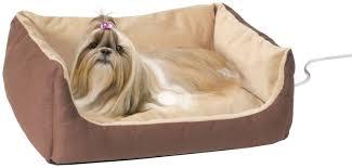 Heated Dog Beds Walmart by Amazon Com K U0026h Manufacturing Thermo Pet Cuddle Cushion Mocha 14