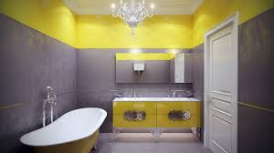 Gray And Yellow Bathroom Decor Ideas grey and yellow bathroom rug stone filled vanity countertop wooden
