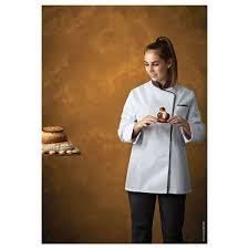 blouse cuisine femme veste de cuisine femme expression blanc noir manches longues robur