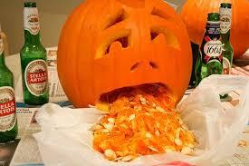 Puking Pumpkin Pattern by Drunk Pumpkins Alcoholic Pumpkin Carving