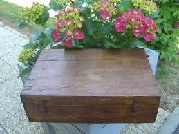 bureau d olier ancien en bois 1 place ancienne boite coffret de rangement vide en bois massif ciré 26