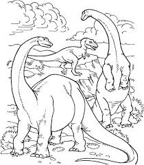Realistic Dinosaurs Life In Their Prime Ages Dinosaur Coloring Page
