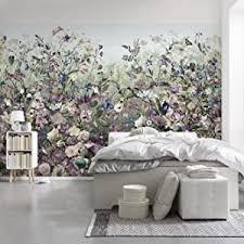komar xxl4 035 vlies fototapete botanica tapete wand dekoration blumen schlafzimmer romantik xxl4 035 violett 368 x 248 cm 4 stück