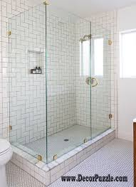 white bathroom shower tile home design mannahatta us