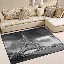 Amazoncom ALAZA Black And White Paris Eiffel Tower France