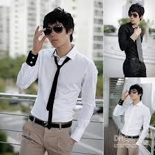 Men Fashion Clothing Mens Luxury Shirts Smart Casual Dress Example White Shirt