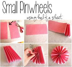 Make Different Size Pinwheels For A Pinwheel Collage Using Scrapbooking Paper