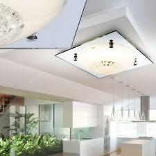 details zu decken led glas kristall wohnzimmer le spiegel rand leuchte strahler licht