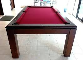 Dining Room Pool Table Set For