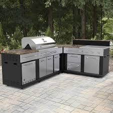 Master Forge Corner Modular Outdoor Kitchen Set