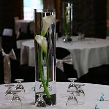 Flower centerpieces on a bud