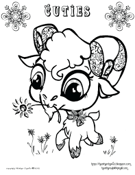 Littlest Pet Shop Coloring Pages Zoe Cute Character Drawings Style Artist Heather To Print Printable