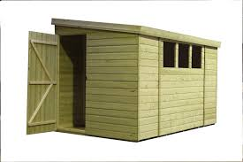 10x6 garden shed shiplap pent shed tanalised windows pressure