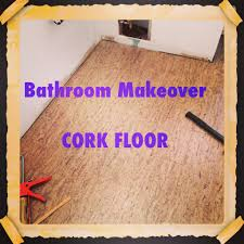 using cork flooring in a bathroom the decor