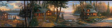 Cabin in The Woods Wallpaper Border