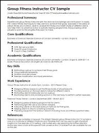 Sample Resume Zumba Instructor ResumeExamples