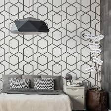 geometrische wiederverwendbare wandschablone aus kunststoff 65x95cm linien nahtlos repetitive allover muster vorlage