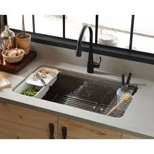33x22 Single Bowl Kitchen Sink by Kohler K 5871 5ua3 0 Riverby White Undermount Single Bowl Kitchen