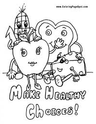 Awesome Healthy Food Coloring Pages 12 In Site With