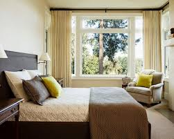 Example Of A Mid Sized Classic Master Carpeted And Brown Floor Bedroom Design In Portland