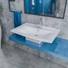 details zu design keramik aufsatzwaschbecken waschtisch waschbecken modern weiß 70cm mn070
