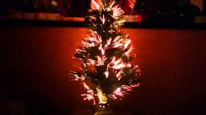 Fibre Optic Christmas Trees Uk by Fibre Optic Mini Christmas Tree Youtube