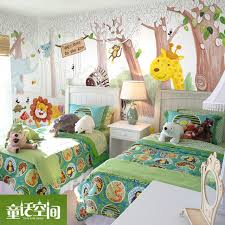 Large Mural Cartoon Kids Wallpaper Zoo Boy Girl Bedroom Whole House Animated