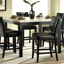 Tufted Leather Dining Room Chairs Tall Elegant Counter Black Back And Square White
