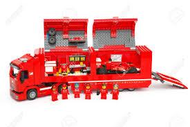 100 Ferrari Truck Tambov Russian Federation June 27 2015 Lego F14 T Scuderia