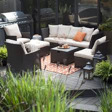 Conversation Sets Patio Furniture by Coral Coast South Isle All Weather Wicker Natural Outdoor
