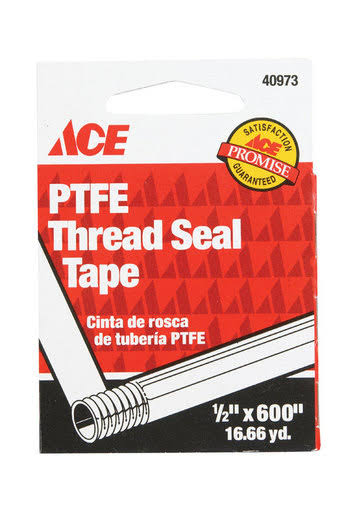 "ACE PTFE Thread Seal Tape, 1/2"" x 600"""