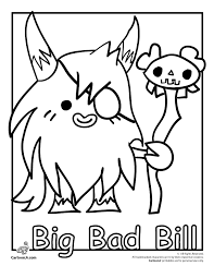 Big Bad Bill Spookies Moshi Monster Coloring Page