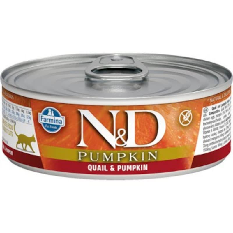 Farmina Natural & Delicious Pumpkin Cat Food - with Quail and Pumpkin, 80g