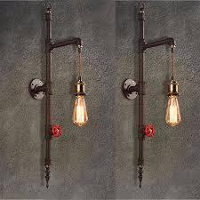 vintage iron pipe wall l 220v luxury industrial bathroom wall