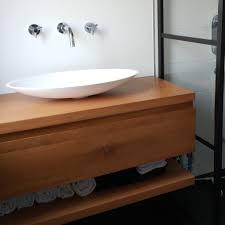 waschtischplatte eiche mit loch löchern nach maß 3 cm massivholz eichenholz rustikal eichen waschtisch waschbecken unterschrank