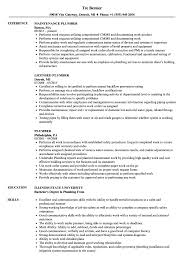 Plumber Resume Samples