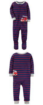 Sleepwear 147336: Carter S Baby Boy 1Pc Red Firetruck Footed Sleeper ...