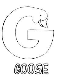 Letter G Is For Goose Coloring Page