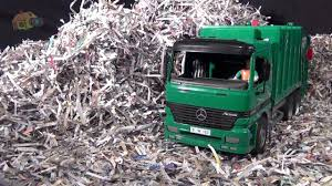 Cool Toy Garbage Trucks At The Landfill - YouTube