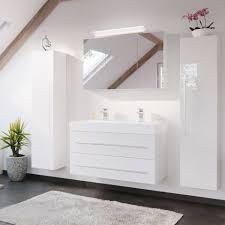 lomadox badmöbel set lissabon 02 spar set bad möbel mit 100cm doppel waschtisch in hochglanz weiß b h t 200 200 48cm kaufen otto