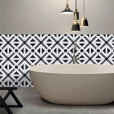 Ceramic Tile For Bathroom Walls by 25pcs Self Adhesive Bohemia Simulation Ceramic Tiles Diy Kitchen