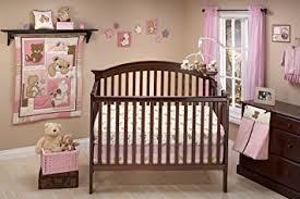 amazon com little bedding dreamland teddy crib bedding set