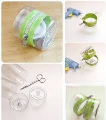 Plastic Bottle Zipper Container Tutorial