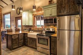 Kitchen IdeasRustic Cabinets And Delightful Rustic Blue With Marvelous